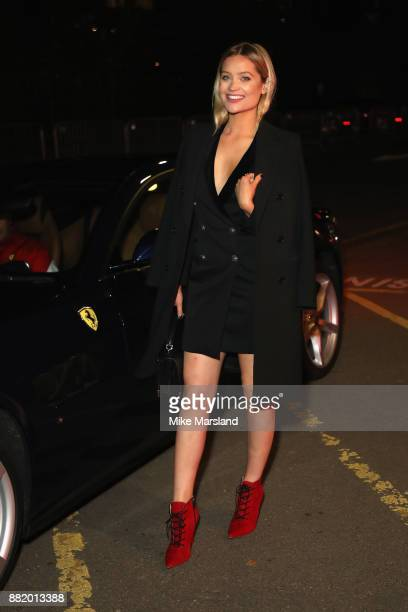 Laura Whitmore attends the UK launch event for the new Ferrari Portofino at Kensington Olympia on November 29 2017 in London England