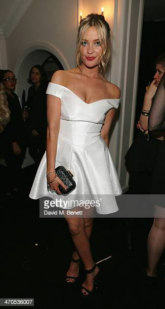 Laura Whitmore attends The Warner Music Group And Belvedere Brit Awards After Party In Association With Vanity Fair at The Savoy Hotel on February 19...