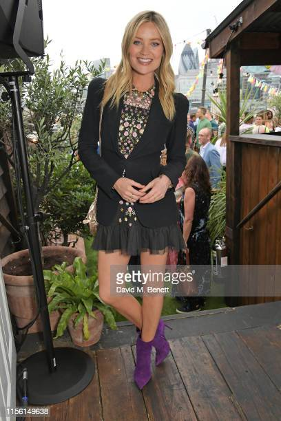 Laura Whitmore attends the Warner Music summer drinks on July 17, 2019 in London, England.