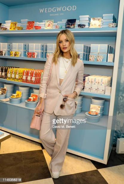 Laura Whitmore attends the Wedgwood 260th Anniversary Party during the Chelsea Flower Show at The Royal Hospital Chelsea on May 21, 2019 in London,...