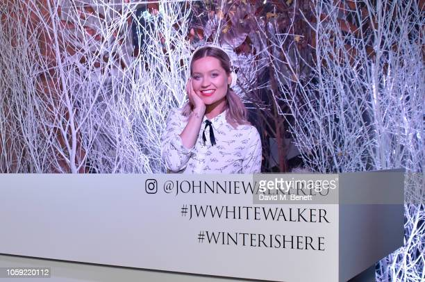 Laura Whitmore DJs at the Johnnie Walker Frozen Forest popup in Shoreditch to celebrate the launch of the limitededition White Walker by Johnnie...