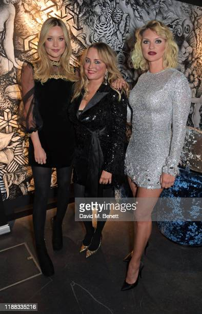 """Laura Whitmore, Erica Bergsmeds and Fancy Alexandersson attend a private screening of """"Fallen Dream"""" at The Mandrake Hotel on December 12, 2019 in..."""