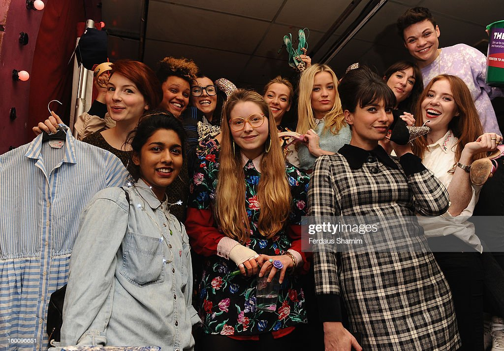 Laura Whitmore, Gemma Cairney and Gizzi Erskine attend a photocall as The Music Circle present 'Rumble in the Jumble 2' in support of Oxfam's Get Together for International Women's Day at Bethnal Green Working Men's Club on January 26, 2013 in London, England.