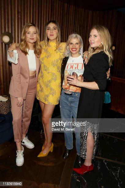 Laura Whitmore Gina Martin Pips Taylor and guest attend a party hosted by Gina Martin and Ryan Whelan to celebrate the Royal ascent into law of the...