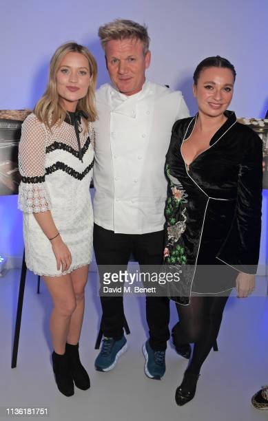 Laura Whitmore Gordon Ramsay and Gizzi Erskine attend an intimate dinner hosted by Gordon Ramsay to preview his highlyanticipated new Mayfair...