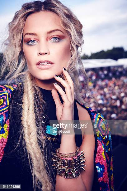 Laura Whitmore is photographed for Cosmopolitan UK on June 14 2013 Styling Sairey Stemp Makeup Aimee Adams and Alex Chalk Hair Enzo Volpe Jacket by...