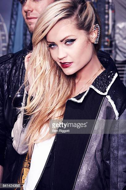 Laura Whitmore is photographed for Cosmopolitan UK on June 15 2013 Styling Sairey Stemp Makeup Aimee Adams and Alex Chalk Hair Enzo Volpe Jacket by...