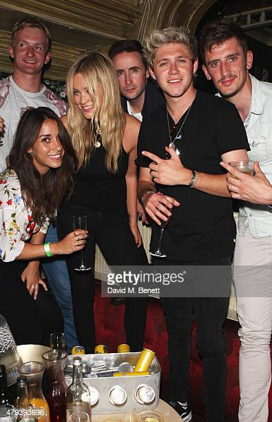 Laura Whitmore Niall Horan and guests attended the Red Bull Tropical Edition Party at The Box Soho on July 3 2015 in London England Guests enjoyed a...
