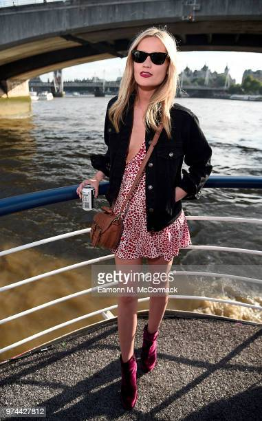 Laura Whitmore on board the Bud Boat for the launch party hosted by Budweiser the Official Beer of the 2018 FIFA World Cup on June 14 2018 in London...