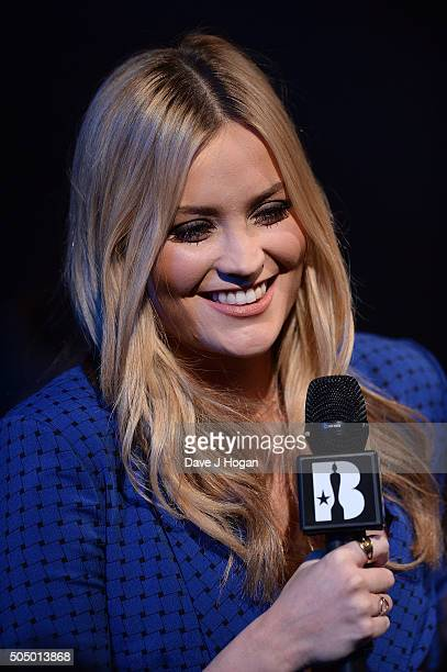 Laura Whitmore onstage at the nominations launch for The Brit Awards 2016 at ITV Studios on January 14 2016 in London England