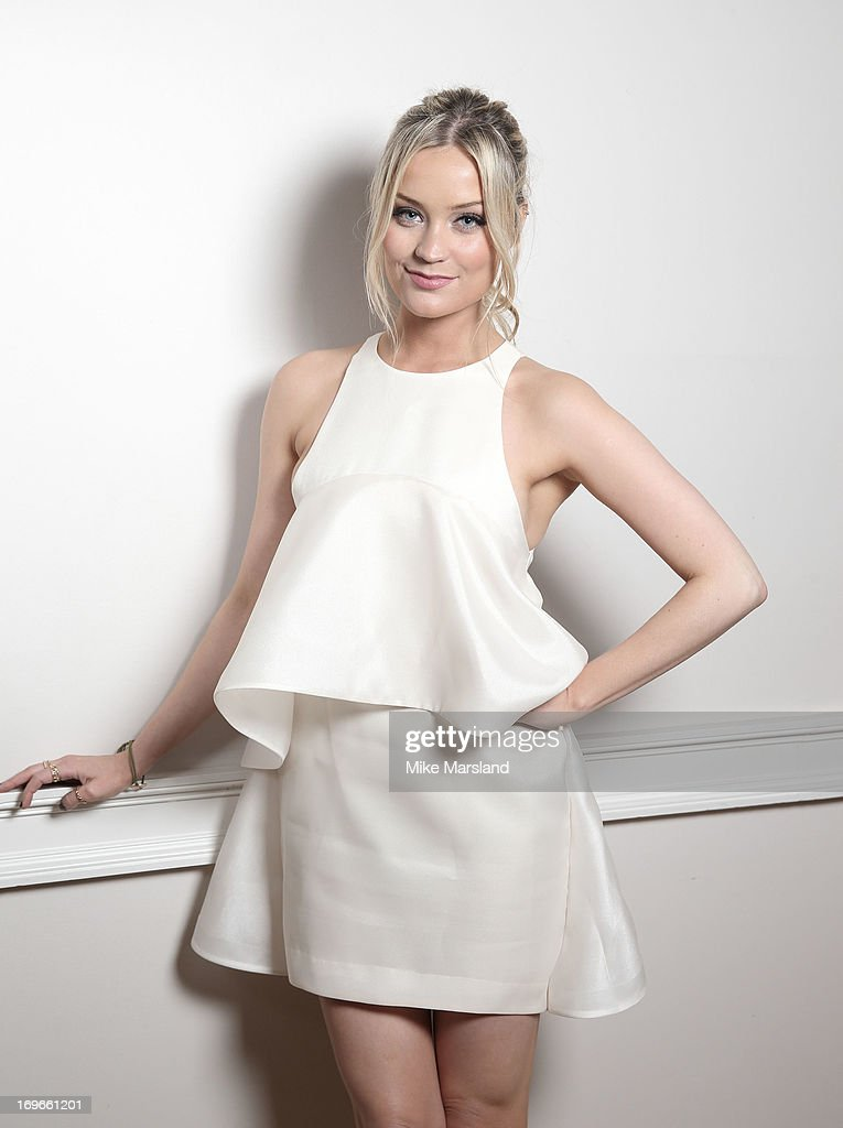 Laura Whitmore poses for Stella/Esquire Portrait Studio at Somerset House on May 29, 2013 in London, England.
