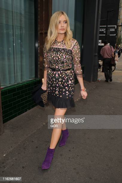 Laura Whitmore seen arriving at the Warner Music Summer party on July 17 2019 in London England