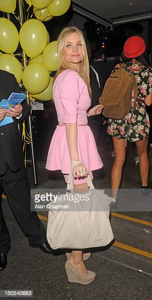 Laura Whitmore sighting at 'Keith Lemon The Film' after party on August 20 2012 in London England