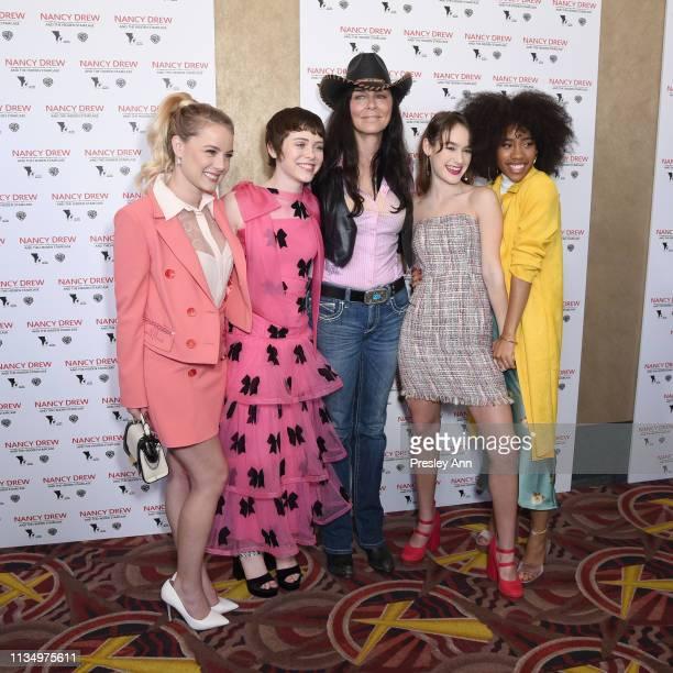 R Laura Wiggins Sophia Lillis Katt Shea Mackenzie Graham and Zoe Renee attend the red carpet premiere of 'Nancy Drew and the Hidden Staircase' at AMC...
