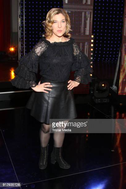 Laura Wilde during the TV Show 'Meine Schlagerwelt Die Party' hosted by Ross Antony on January 31 2018 in Leipzig Germany