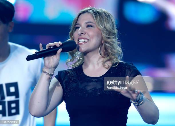 Laura Wilde performs during the tv show 'Willkommen bei Carmen Nebel' on March 24 2018 in Hof Germany The show will be aired on March 24 2018