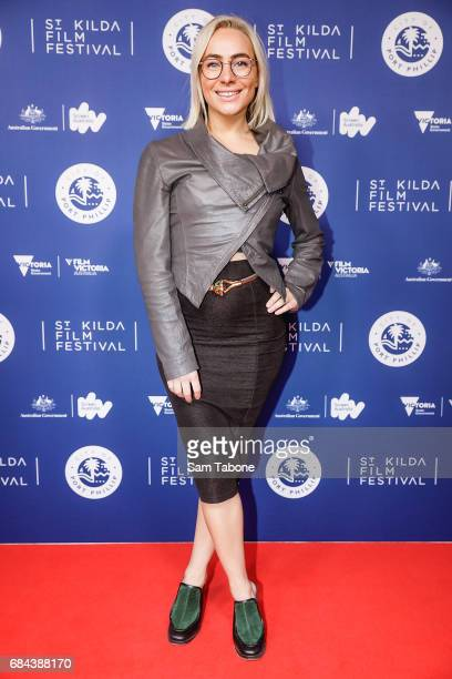 Laura Williams arrives ahead of the St Kilda Film Festival 2017 Opening Night at Palais Theatre on May 18 2017 in Melbourne Australia