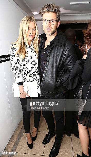 Laura Withmore and Darren Kennedy attend the Versus show during London Fashion Week SS16 at Victoria House on Septemand ber 19 2015 in London England