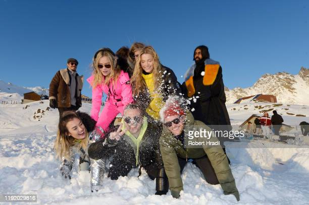 Laura Withmore Lily Travers and guests attend Casamigos in the Snow on December 04 2019 in Verbier Switzerland