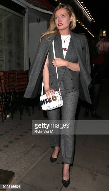 Laura Witmore attends Celebrities attend Bunga Bunga 1st birthday party at Bunga Bunga Covent Garden on January 31 2018 in London England