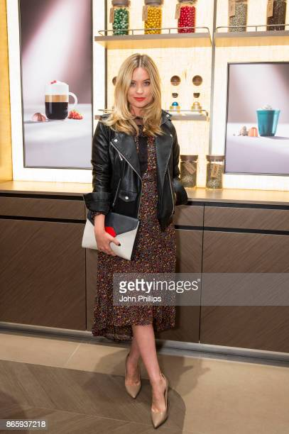 Laura Wittmore attends the launch party of the Nespresso Boutique at the new Westgate Oxford on October 24 2017 in Oxford England The retail and...