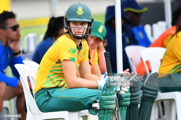 Laura Wolvaardt of South Africa during the ICC Women's T20 Cricket World Cup Warm Up match between Sri Lanka and South Africa at Karen Rolton Oval on...