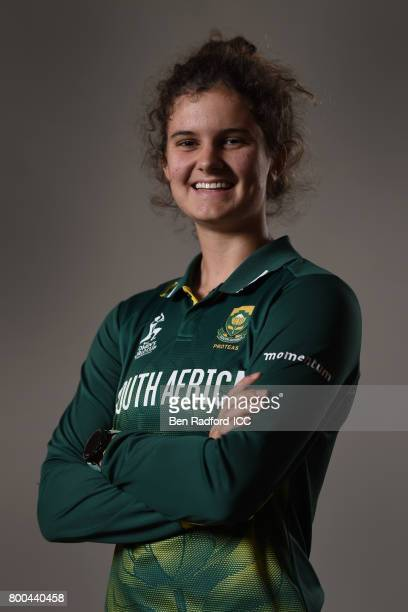Laura Wolvaardt of South Africa on June 19 2017 in Leicester England