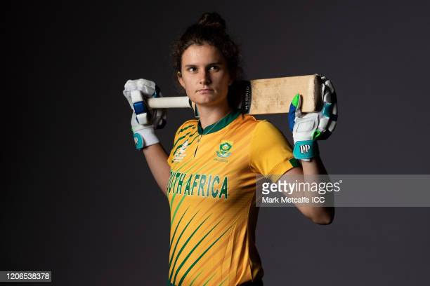 Laura Wolvaardt poses during the South Africa 2020 ICC Women's T20 World Cup headshots session at Adelaide Oval on February 16 2020 in Adelaide...