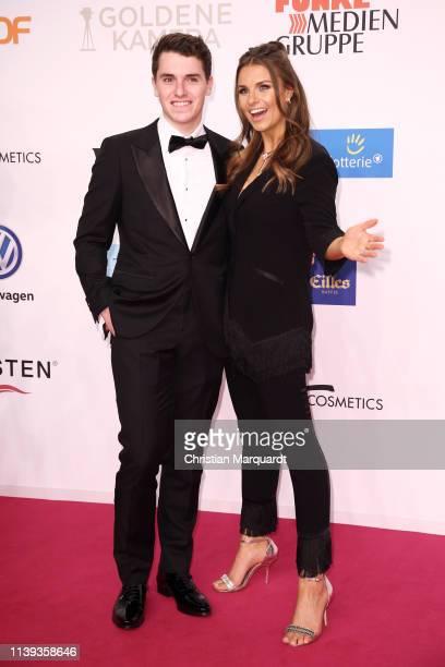 Laura Wontorra and Marcel Wontorra attend the Goldene Kamera at Tempelhof Airport on March 30 2019 in Berlin Germany