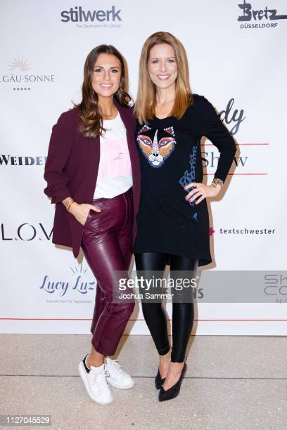 Laura Wontorra and Miriam Lange during the Superbirdy Special Edition Presentation at stilwerk on February 02, 2019 in Duesseldorf, Germany.