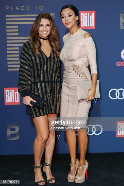 Laura Wontorra and Veronika Pooth attends the PLACE TO B PreBerlinale Party at Borchers on February 11 2017 in Berlin Germany