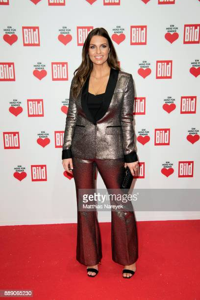 Laura Wontorra arrives at the Ein Herz Fuer Kinder Gala at Studio Berlin Adlershof on December 9 2017 in Berlin Germany