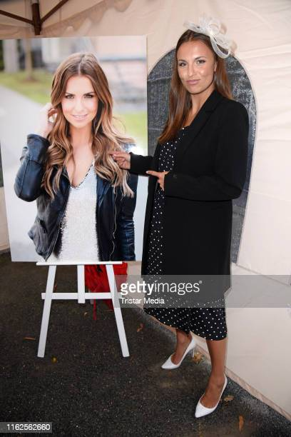 Laura Wontorra attends the Audi Ascot Race Day at Neue Bult horse racing track on August 18 2019 in Langenhagen Germany