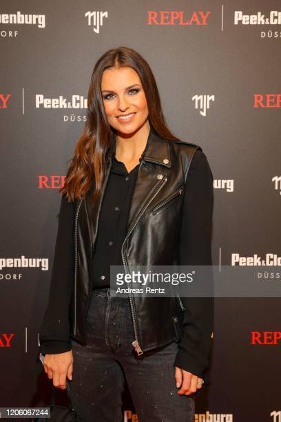 Laura Wontorra attends the launch event for the new Capsule Collection Neymar Jr x Replay at Weltstadthaus on February 13 2020 in Duesseldorf Germany