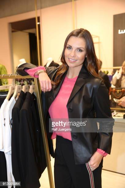Laura Wontorra attends the opening of Luisa Cerano Flagship Store on January 27 2018 in Duesseldorf Germany