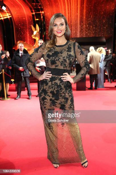 Laura Wontorra during the Bambi Awards 2018 Arrivals at Stage Theater on November 16 2018 in Berlin Germany