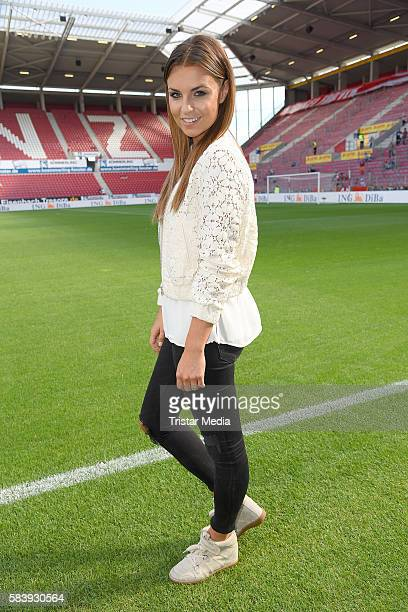 Laura Wontorra during the 'Champions for charity' football match between Nowitzki All Stars and Nazionale Piloti in honor of Michael Schumacher at...
