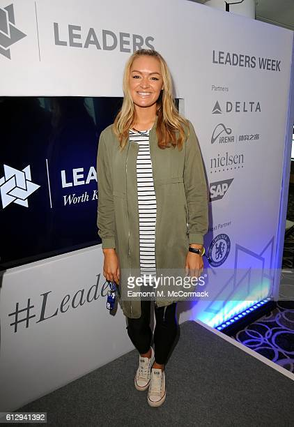 Laura Woods of Soccer AM attends the Leaders Sport Business Summit at Stamford Bridge on October 6, 2016 in London, England.