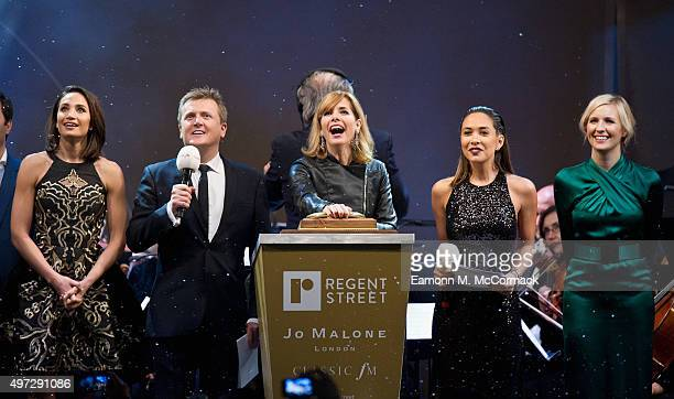 Laura Wright Aled Jones Darcey Bussell Myleene Klass and Alison Balsom at the switch on of the Regent's Street Christmas Lights at Regent Street on...