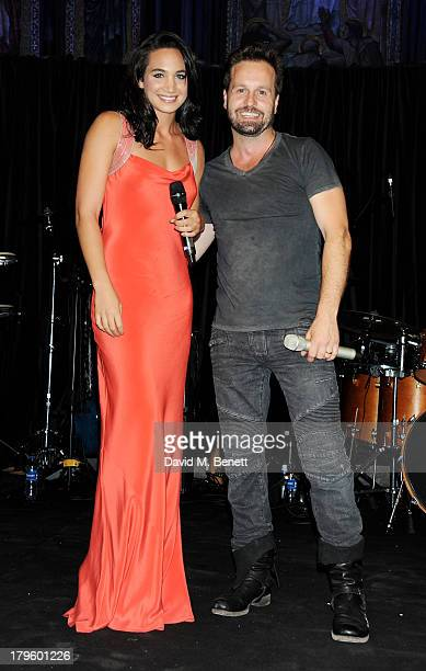 Laura Wright and Alfie Boe perform at the Queen AIDS Benefit in support of The Mercury Phoenix Trust at One Mayfair on September 5 2013 in London...
