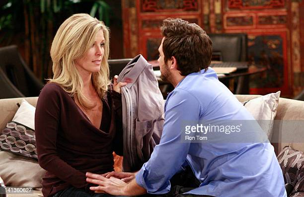 HOSPITAL Laura Wright and Brandon Barash in a scene that airs the week of March 19 2012 on ABC Daytime's 'General Hospital' 'General Hospital' airs...