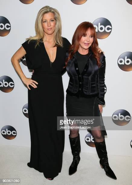 Laura Wright and Jackie Zeman attend the Disney ABC Television Group Hosts TCA Winter Press Tour 2018 on January 8, 2018 in Pasadena, California.