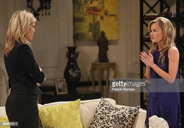 HOSPITAL Laura Wright and Julie Berman in a scene that airs the week of May 3 2010 on Walt Disney Television via Getty Images Daytime's General...