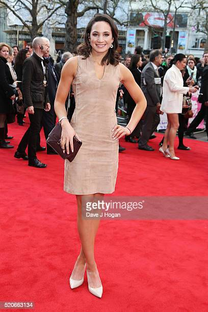 Laura Wright arrives for the UK film premiere of 'Florence Foster Jenkins' at Odeon Leicester Square on April 12 2016 in London England