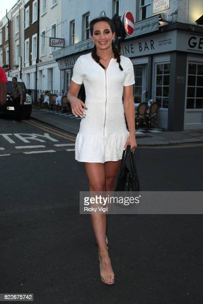Laura Wright attends egaliTee - launch party at Geales Restaurant on July 25, 2017 in London, England.