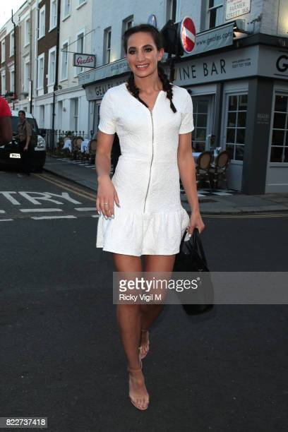 Laura Wright attends egaliTee launch party at Geales Restaurant on July 25, 2017 in London, England.