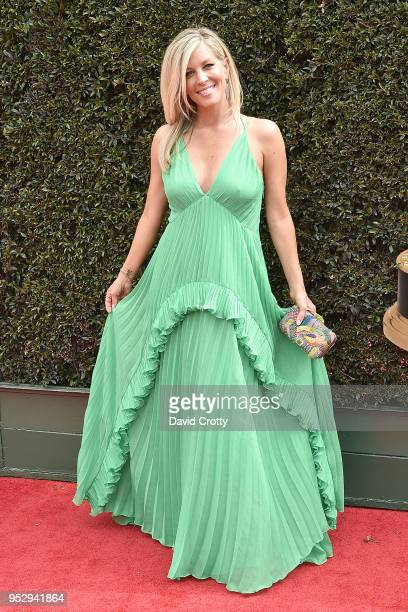 Laura Wright attends the 2018 Daytime Emmy Awards Arrivals at Pasadena Civic Auditorium on April 29, 2018 in Pasadena, California.