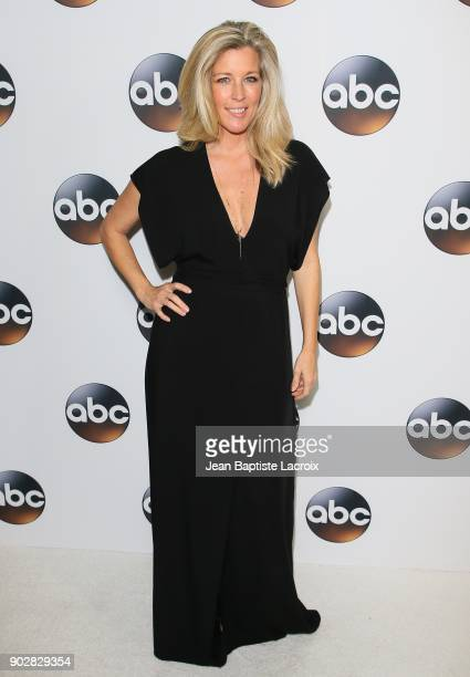 Laura Wright attends the Disney ABC Television Group Hosts TCA Winter Press Tour 2018 on January 8, 2018 in Pasadena, California.