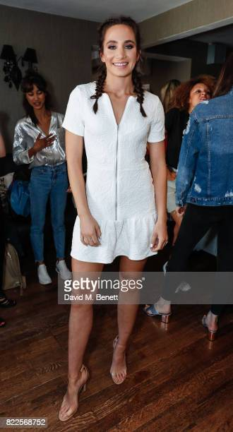 Laura Wright attends the launch of empowering t-shirt collection egaliTEE, made in collaboration with Habitat for Humanity, at Geales Restaurant on...