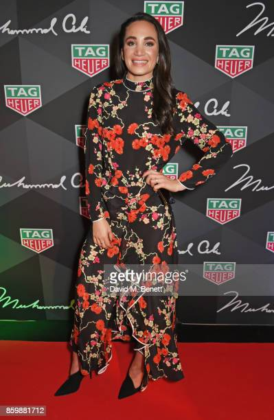 Laura Wright attends the launch of the TAG Heuer Muhammad Ali Limited Edition Timepieces at BXR Gym on October 10, 2017 in London, England.